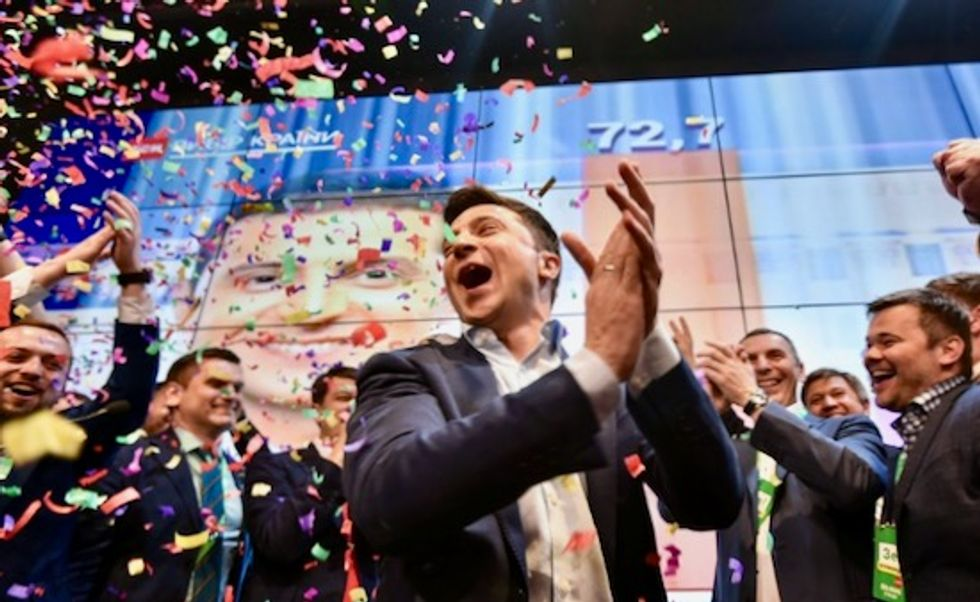 Ukraine leaps into unknown after comic elected president