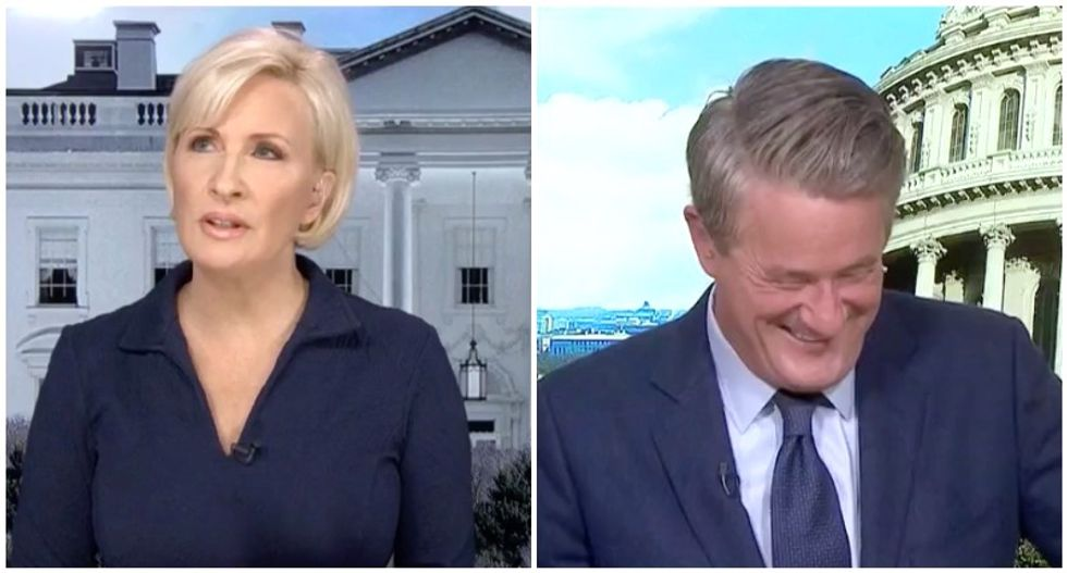 MSNBC's Morning Joe and Mika mock Trump for insisting he's happy -- even as he keeps churning out angry tweets