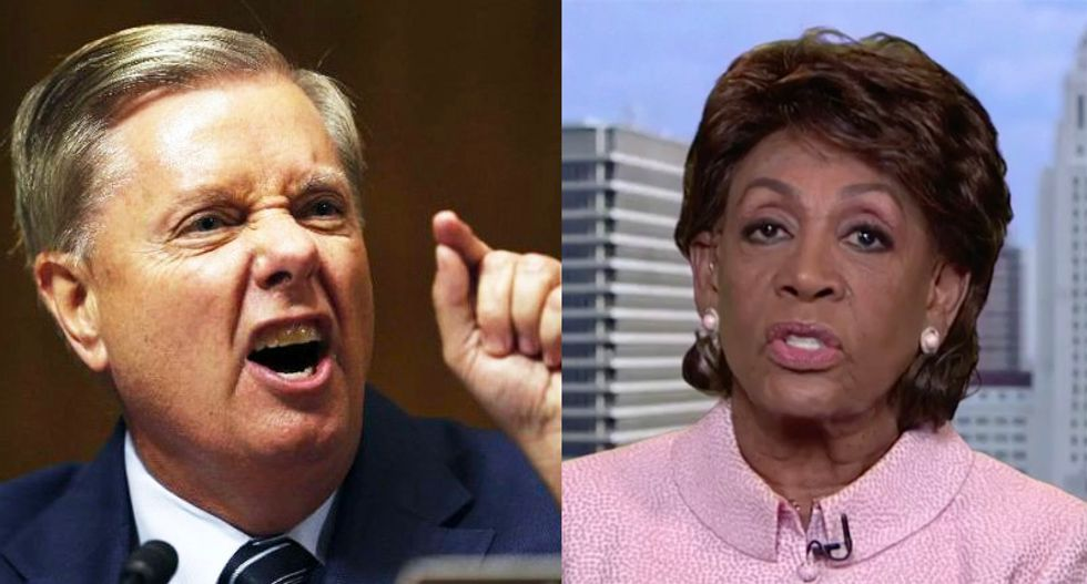 Maxine Waters pummels 'no credibility' Lindsey Graham: He's 'in bed with the president of the United States'