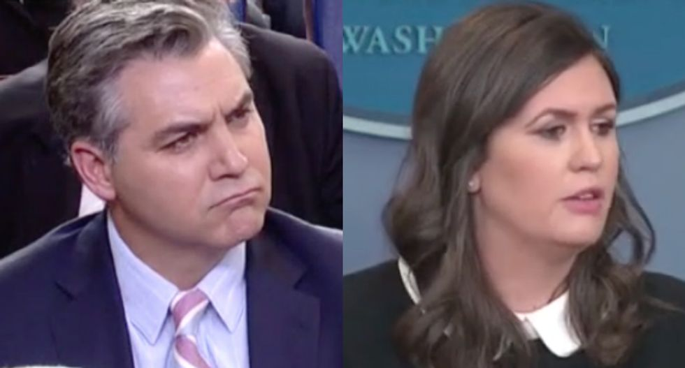 WATCH: Jim Acosta challenges Sarah Sanders to say press isn't 'enemy' -- and she refuses
