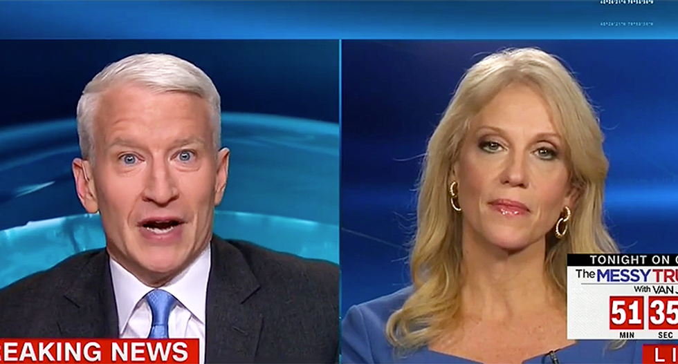 Cooper wrecks Kellyanne Conway for denying intel report: 'You weren't in the briefing. You don't know'