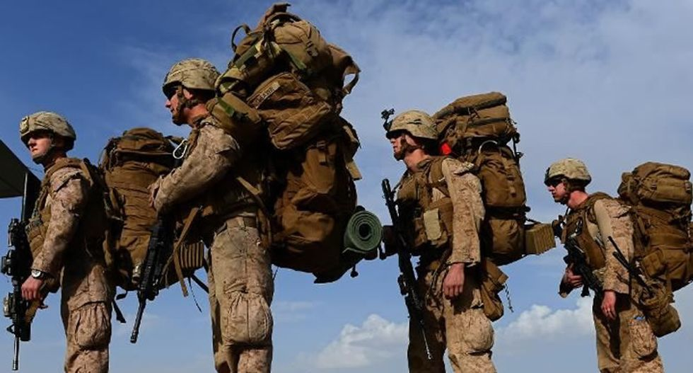 Deployed US Marines snicker at Trump's overseas withdraw plans -- because they're unsure if he's telling the truth