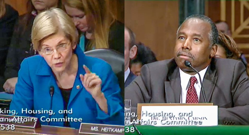 Ben Carson chokes over Warren's grilling: 'Not my intention to do anything to benefit any American'