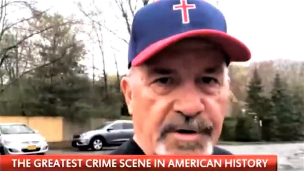 WATCH: Crazed Trump supporter stands outside Hillary's house and demands her immediate arrest