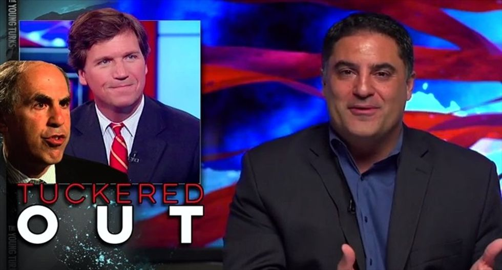 Cenk Uygur mocks Tucker Carlson: You just told everybody that you're 'Fox's b*tch'