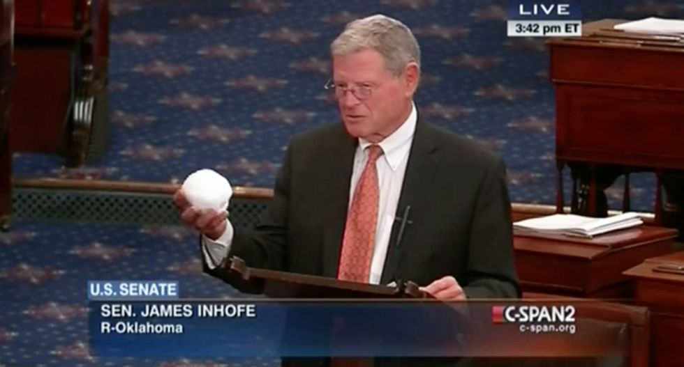 Climate change skeptic Inhofe is big recipent of funds from British Petroleum PAC