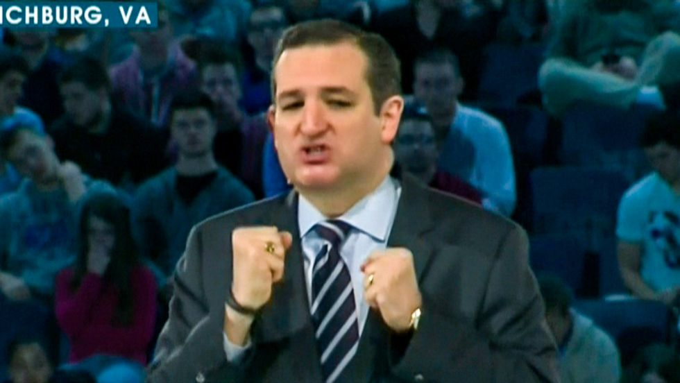 President Cruz is like George Washington, FDR, and Reagan defeating communism -- says Ted Cruz