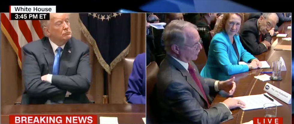 Florida Republican admits he illegally brings his concealed weapon into 'gun-free zones' during Trump press conference