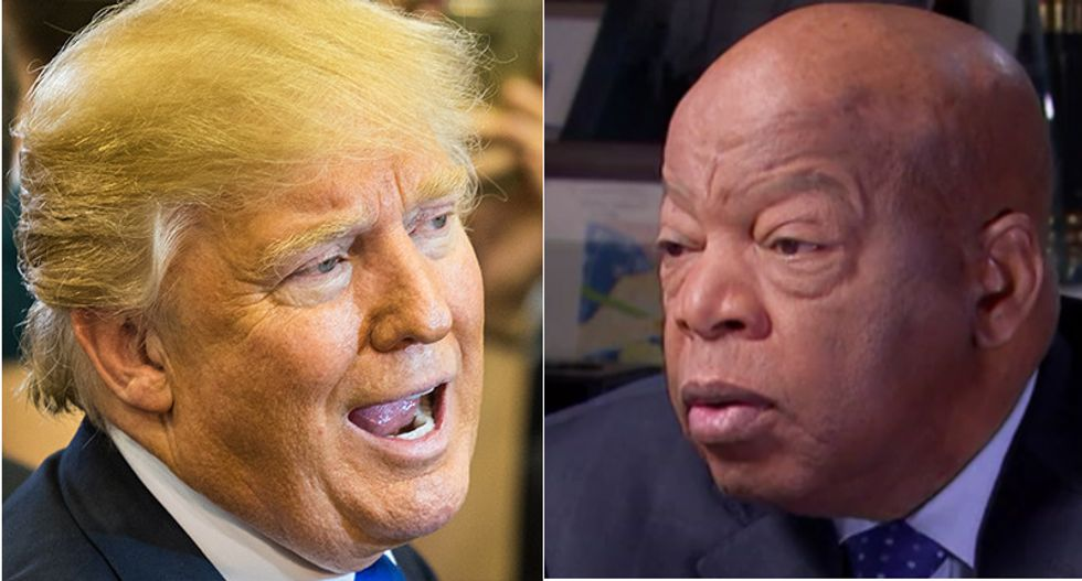 'You're not a quarter of the man he is': Internet shreds Trump for smearing civil rights icon John Lewis
