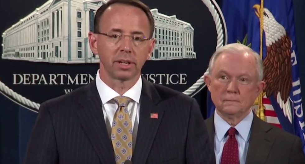 Rosenstein angry Trump 'used' him to justify firing Comey: report