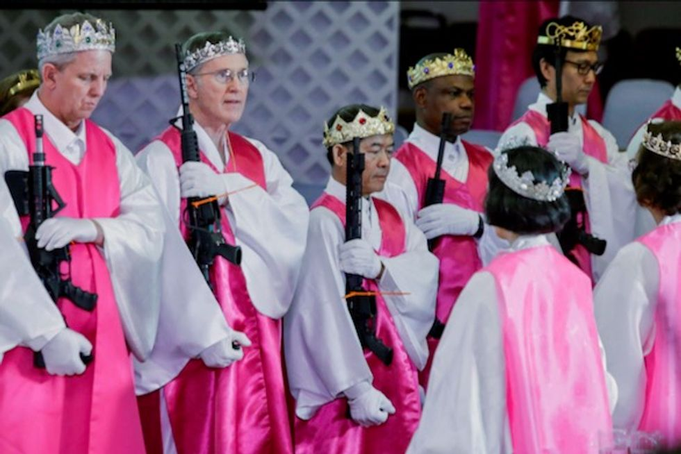 Couples tote AR-15 assault rifles to Pennsylvania church blessing