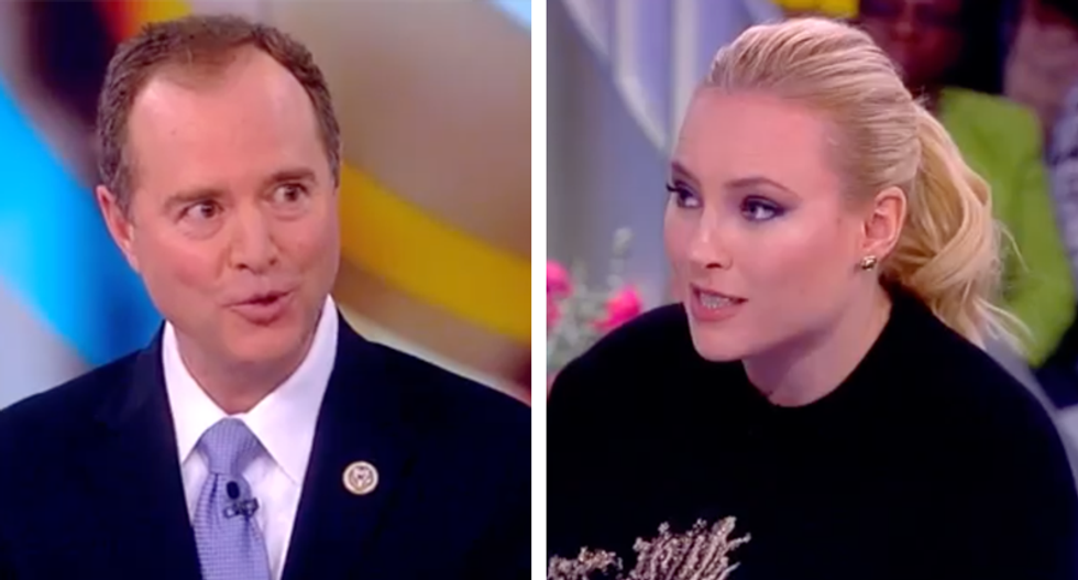 Meghan McCain tries to corner House intel Dem about Trump-Russia 'overhype' -- and it backfires spectacularly