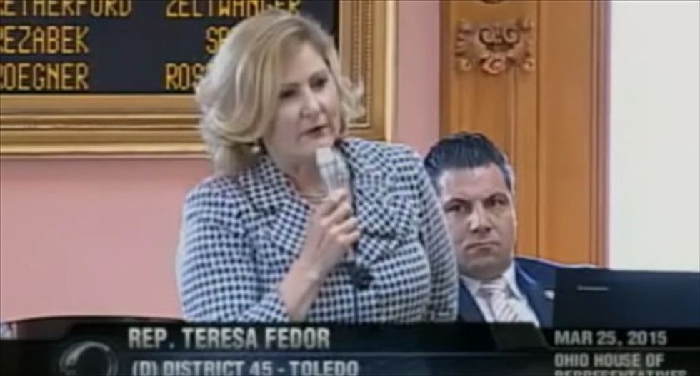 Ohio lawmaker caught laughing as colleague reveals horrifying story of her own rape