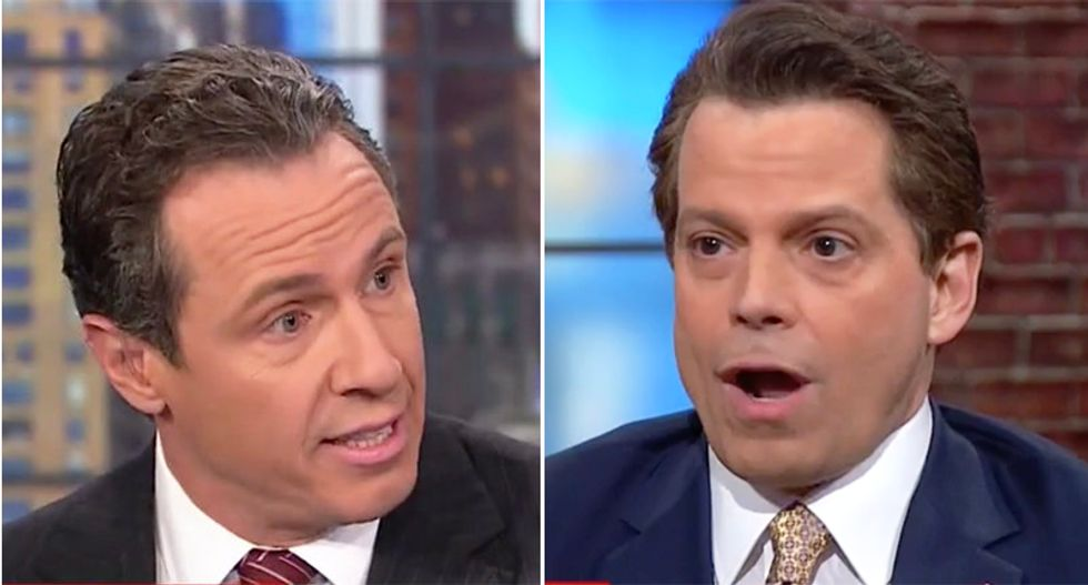 CNN's Chris Cuomo kneecaps Scaramucci's defense of Hope Hicks: She lied about Russia meetings