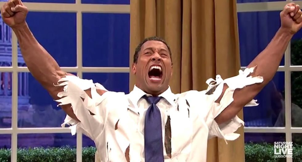 SNL: Watch 'The Rock Obama' deal with Republican gadflies Tom Cotton and Ted Cruz