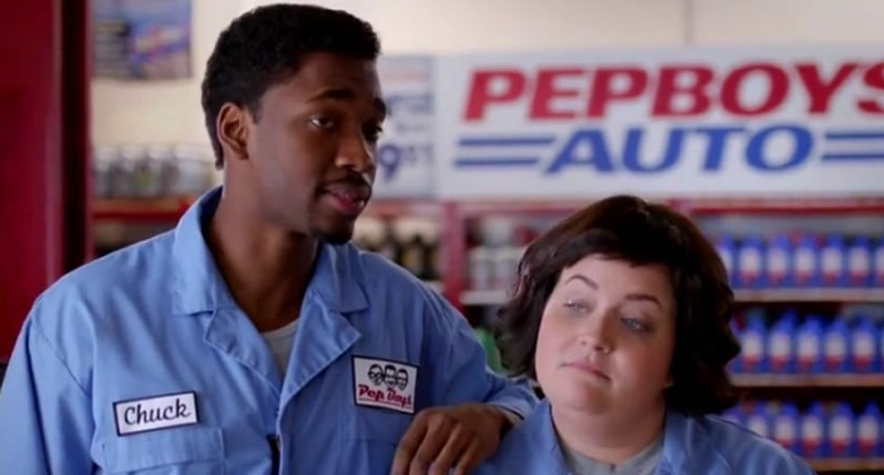SNL mocks Starbucks' 'race together' fiasco with LGBT awareness campaign by Pep Boys