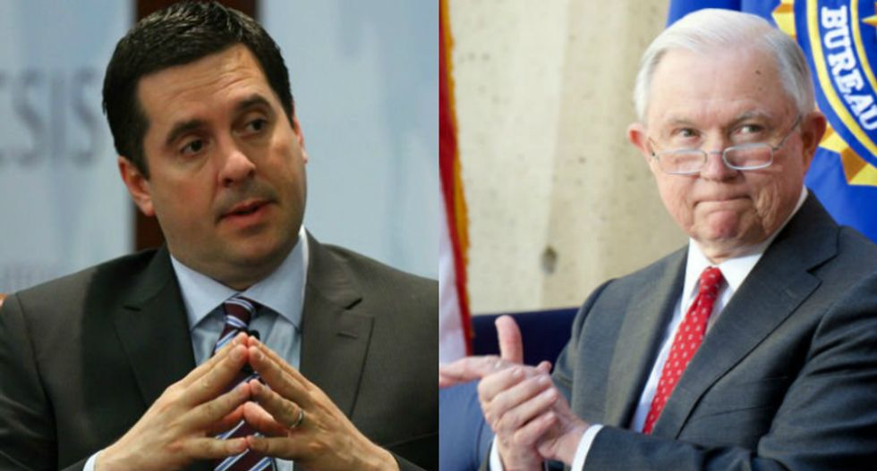 Devin Nunes just sent Jeff Sessions a letter accusing the FBI of breaking the law