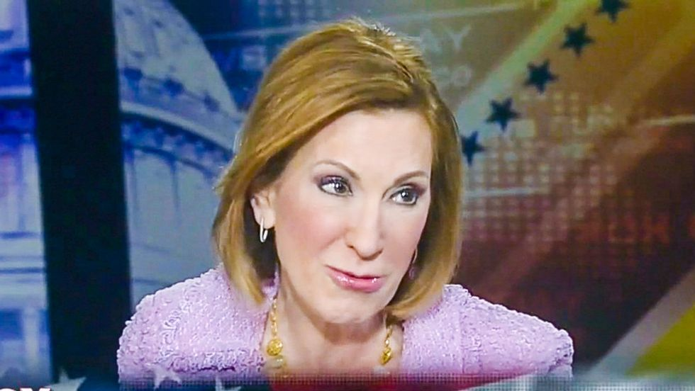 GOP's Carly Fiorina: Economy is suffering because workers are 'watching porn all day long'