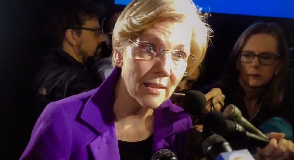 Here is how the media's sexist and malicious reporting on Elizabeth Warren proves they're in Trump's pocket