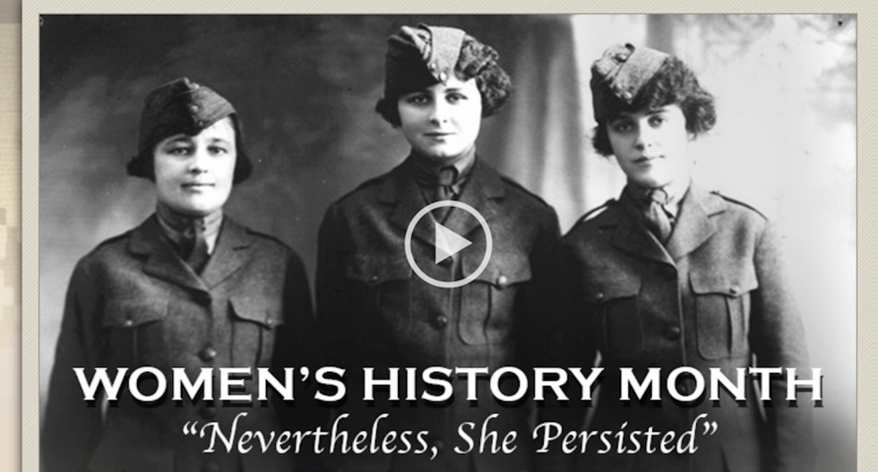 US Marine Corps features prominent 'resistance' motto in honor of Women's History Month