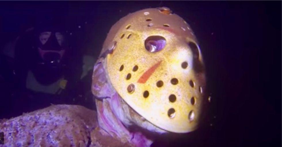 Creepy underwater statue of Jason Voorhees in Minnesota lake continues to spook swimmers
