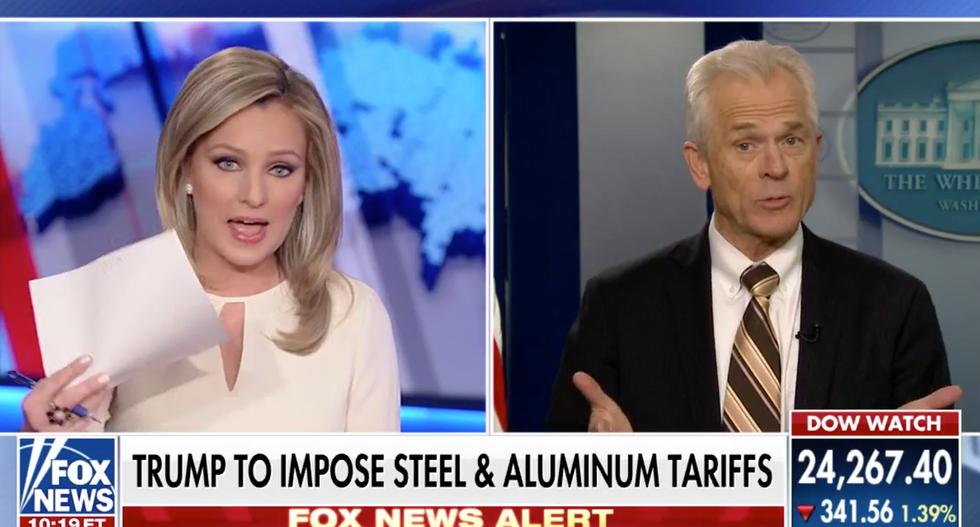 WATCH: Trump's economic guru snaps at Fox News host for citing Wall Street Journal's trade plan criticism