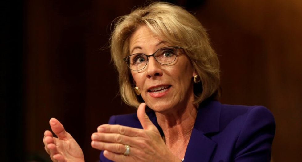Student heckles Betsy DeVos on campus of Miami college: 'They bought you a cabinet position'