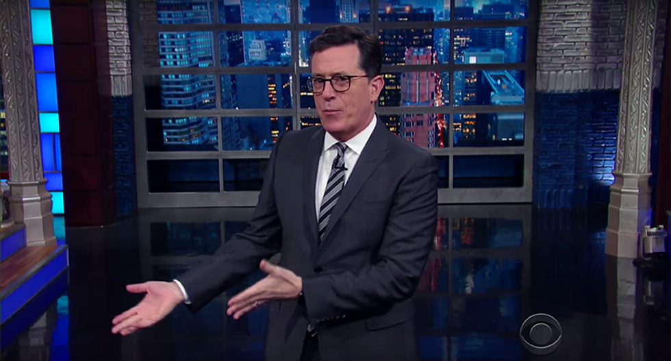Stephen Colbert mocks Trump for refusing to work on 'day one' -- and taking the weekend off
