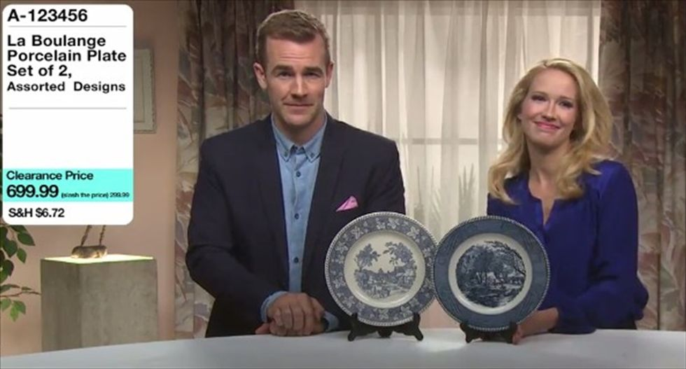 WATCH: James Van Der Beek and Anna Camp skewer Indiana's 'religious freedom' law in home shopping spoof