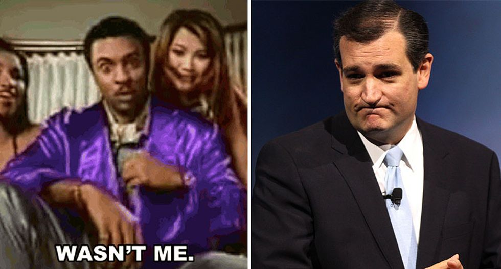 'The Shaggy defense!': Internet loses it after Ted Cruz doubles down on claim person who liked porn 'wasn't me'