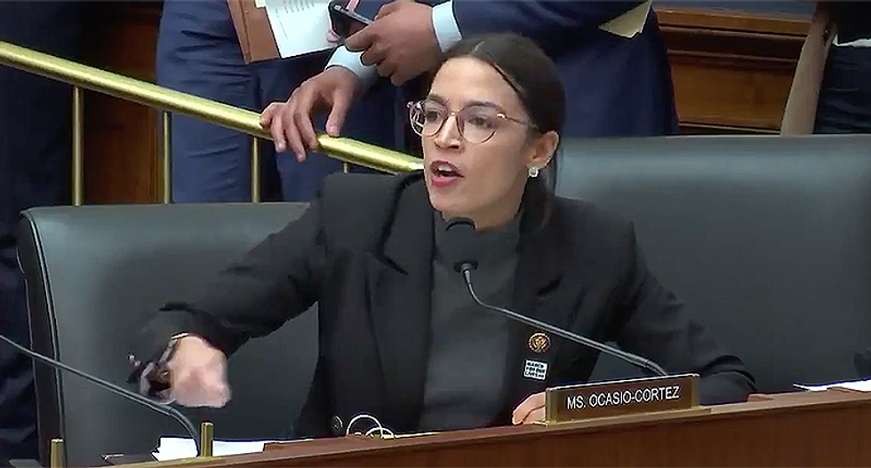 Ocasio-Cortez delivers passionate speech slamming the the GOP's game-playing on climate change: 'People are dying!'