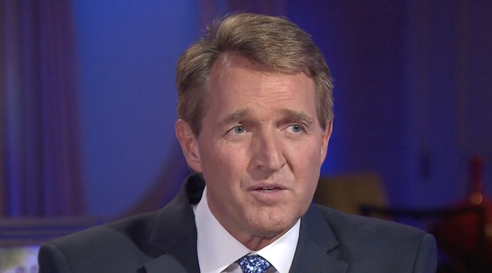 'Still time to save your souls': Jeff Flake pleads with Republicans to hold Trump accountable