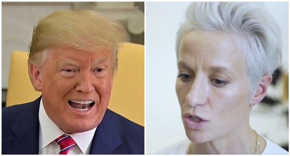 Trump lashes out at US women's soccer player for refusing to visit the White House