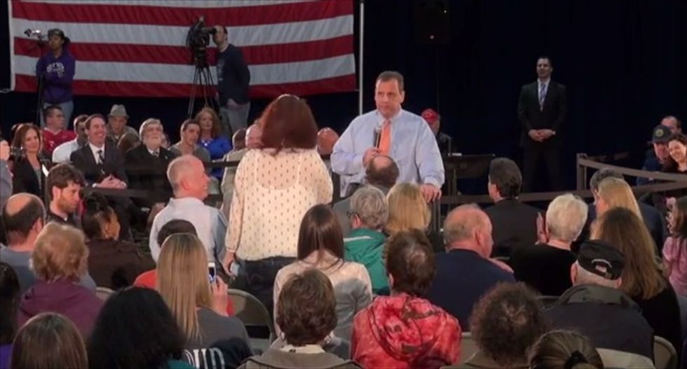 Kindergarten teacher schools Chris Christie: 'Tone it down' if you want to be president