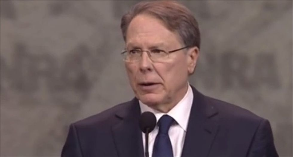 Wayne LaPierre's grotesque warning: Hillary Clinton 'will bring a permanent darkness of deceit and despair'
