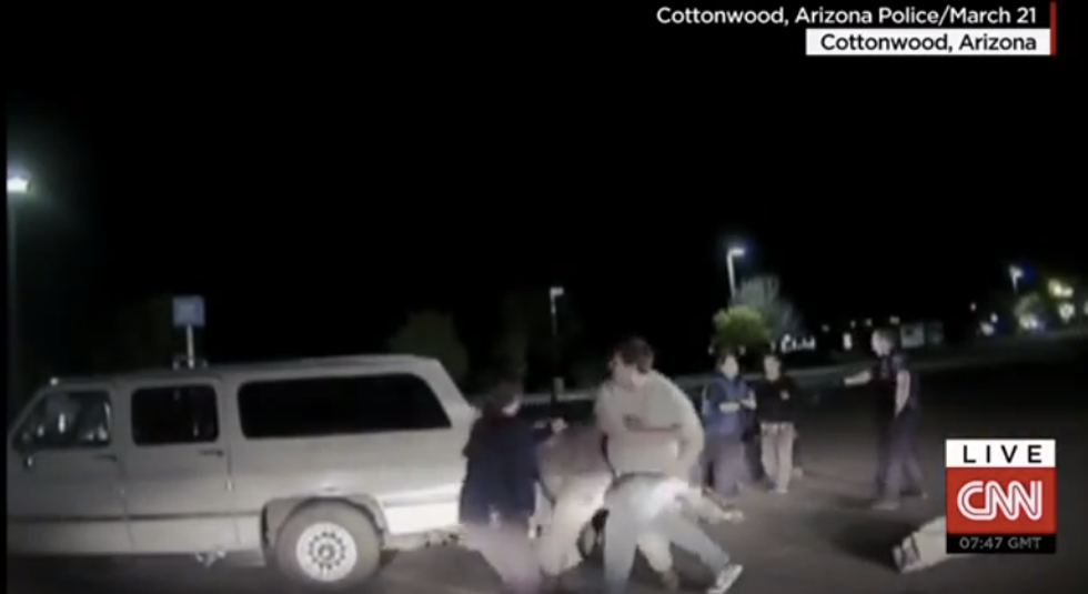 Crazy video shows armed Christian musicians brawling with police in fight that left one dead