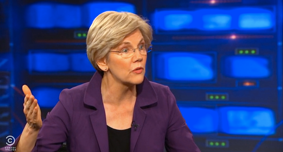 Elizabeth Warren to Jon Stewart: Every law protects 'the tender fannies of the rich and powerful'