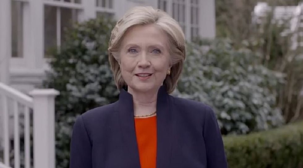 Hillary Clinton announces she's running for president in a two-minute video