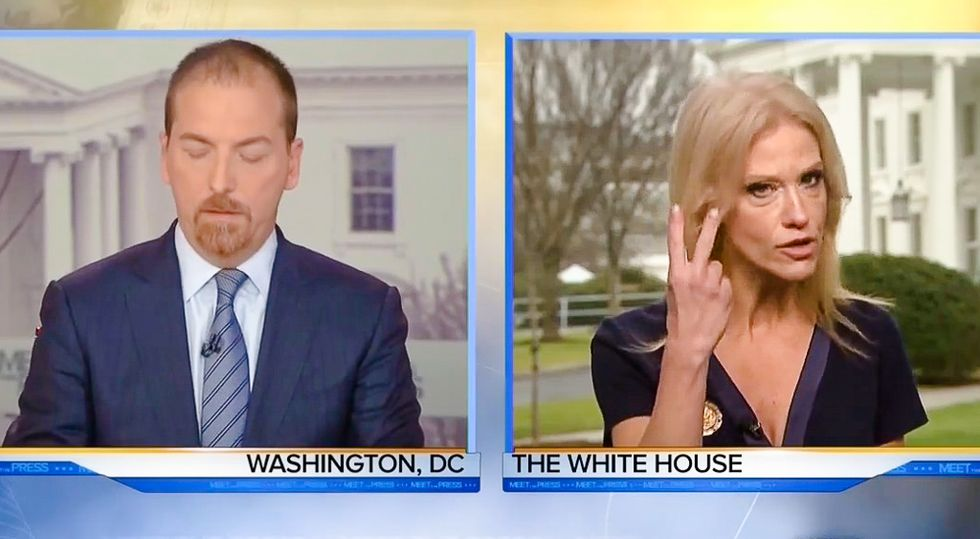 Kellyanne Conway snaps at Chuck Todd: Sean Spicer's lies about crowd size are 'alternative facts'