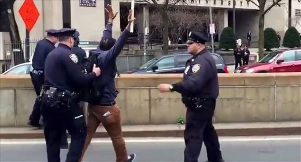 Cursing out the cops is perfectly legal -- but police routinely arrest people for it
