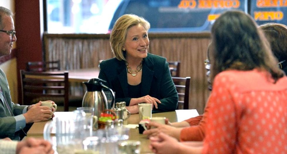 'I'm happy to be back': On Iowa backroads, Hillary Clinton re-introduces herself