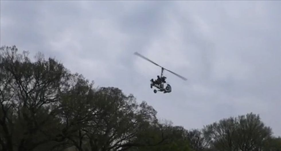 Florida mailman arrested after landing small 'gyro copter' on Capitol grounds