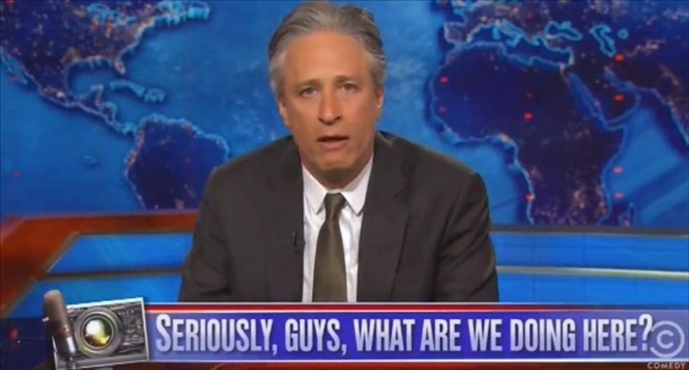 Jon Stewart hammers cable news shows: Stop using footage of fatal police violence as your 'screensavers'