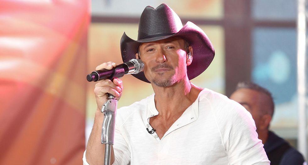 Conservatives sputter in rage that Tim McGraw will headline 'anti-constitution' Sandy Hook benefit concert