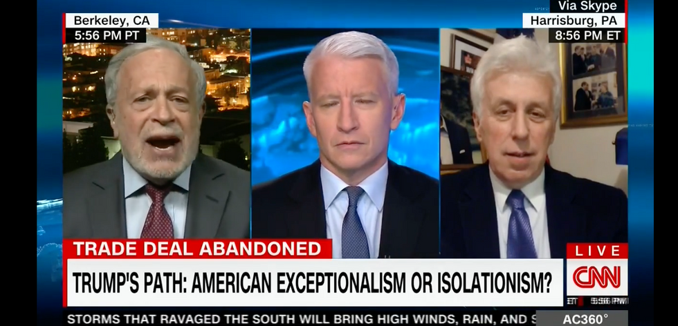 Robert Reich shuts down CNN's Jeffrey Lord's unhinged rant about women's clothes and NAFTA