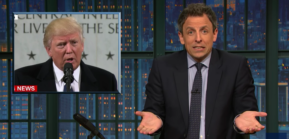 Seth Meyers consoles Trump over tiny crowd size: 'You're still the most popular president--since Obama'