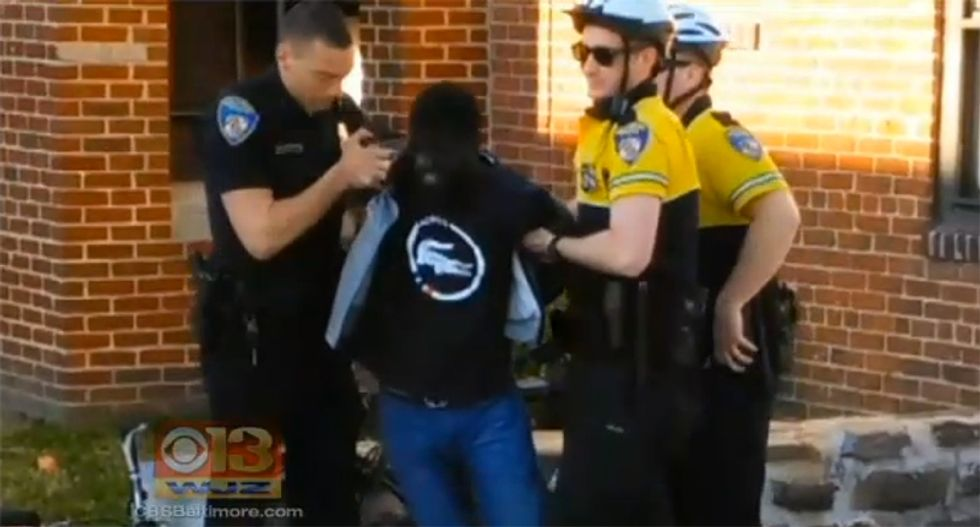 Baltimore officer suspended in Freddie Gray case twice accused of domestic violence