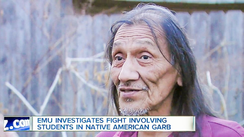 College students in 'red face' mock native elder, claim racist party is ceremony to 'impregnate women'