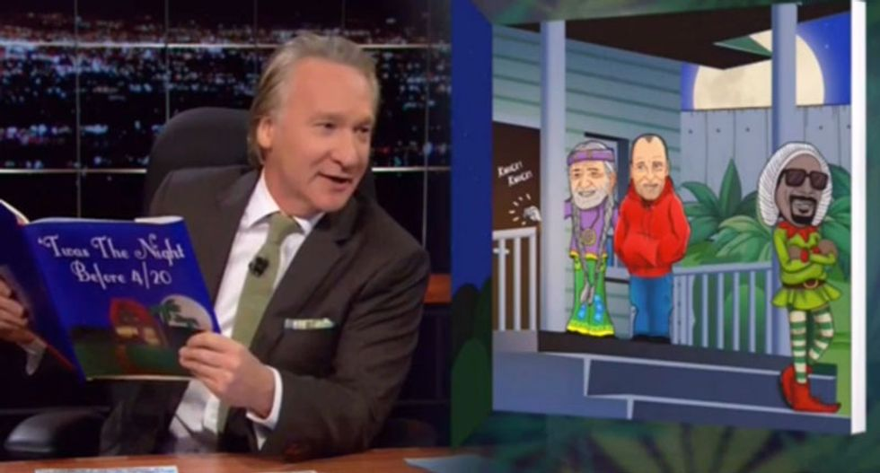 'Twas the night before 4/20': Bill Maher delivers a hilarious stoner fairy tale