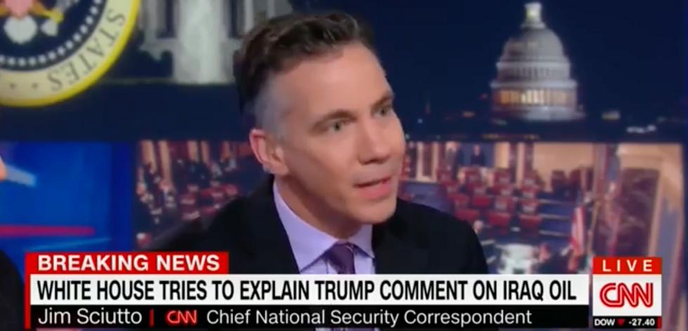 'It's nuts!': CNN'S Jim Sciutto slams Trump's 'ridiculous' suggestion the US should take Iraq's oil